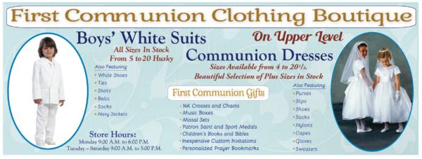 First Communion Web Banner