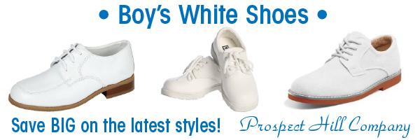 Boys White Shoes