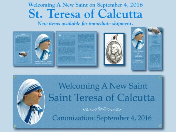 Saint Teresa of Calcutta Prayer Cards Medals Banners