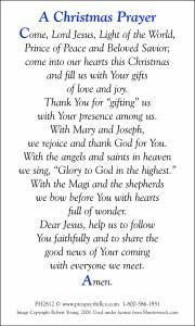 Christmas Prayer Cards   Prospect Hill Company