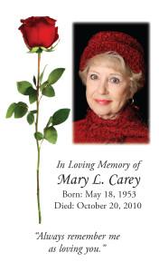 Photo Memorial Card 11