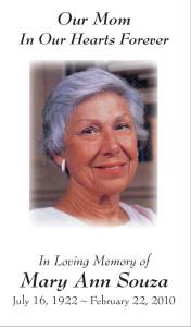 Photo Memorial Card 2
