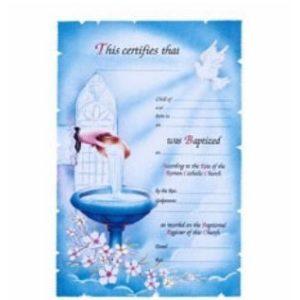 Deluxe Baptism Certificates