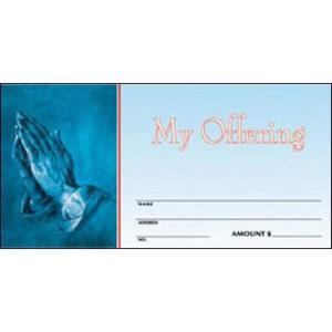 Praying Hands Offering Envelopes