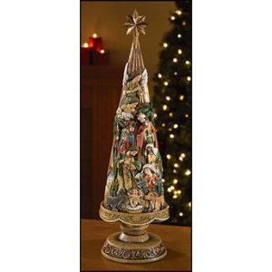 Nativity Christmas Tree Figurine