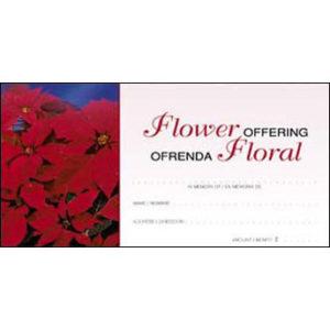 Christmas Bilingual Flower Offering Envelopes