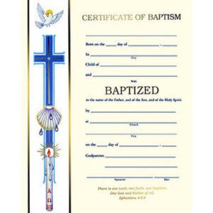 Banner Line Baptism Certificates