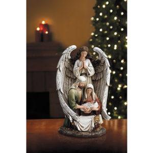 10″ Guardian Angel Holy Family Figurine