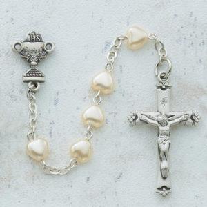 Pearl Heart Communion Rosary