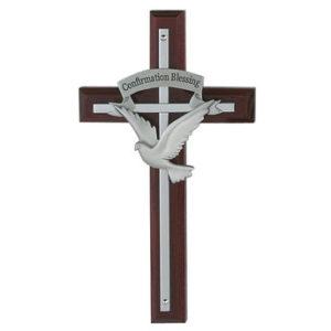 7″ Confirmation Holy Spirit Cherry Cross