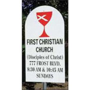 Christian Church Road Sign