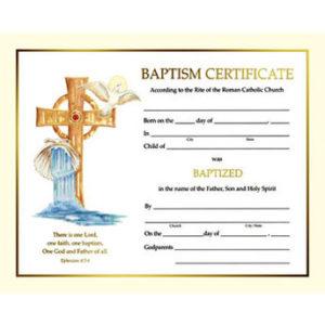Spiritual Line Baptism Certificates