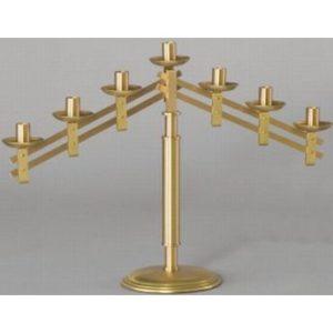 7-Light Altar Candelabra 18″ H