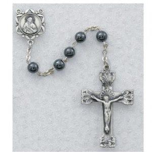 6 MM Genuine Hematite Rosary