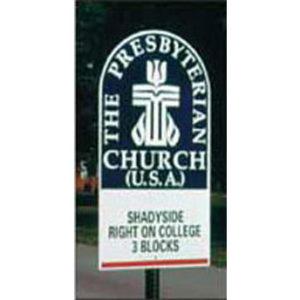 Presbyterian Church Road Sign