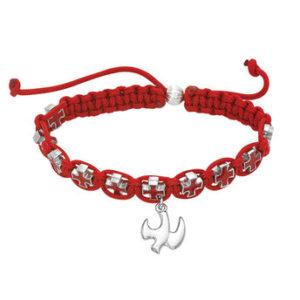 Adjustable Red Corded Bracelet