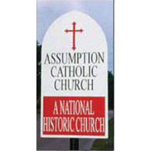 Catholic Church Road Sign