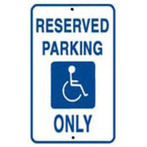 Reserved Disabled Parking Sign
