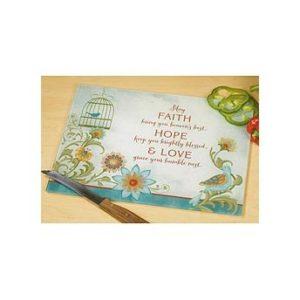 Faith Hope Love Cutting Board