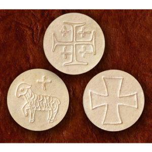 Congregation Communion Breads; 1-1/2″ Diameter, Whole Wheat Flour