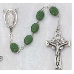 Irish Glass Bead Rosary