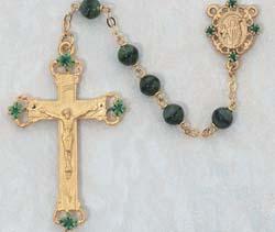 Irish Glass Rosary Beads