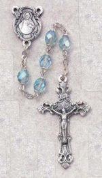 Aqua Birthstone Rosary