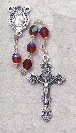 Ruby Birthstone Rosary