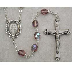 Dark Amethyst Birthstone Rosary