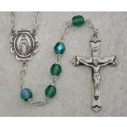 Emerald Birthstone Rosary
