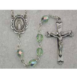 Peridot Birthstone Rosary