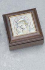 GENUINE WALNUT ROSARY BOX