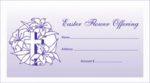 Easter Flower Offering Envelopes