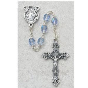6 MM AB Blue/September Rosary