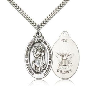 St Christopher Medal – Navy
