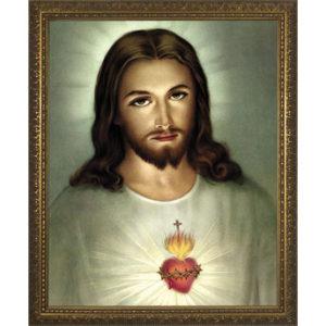 TRADITIONAL SACRED HEART OF JESUS FRAMED ART