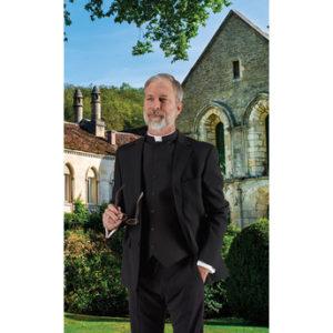 -Toomey Black Clergy Vest