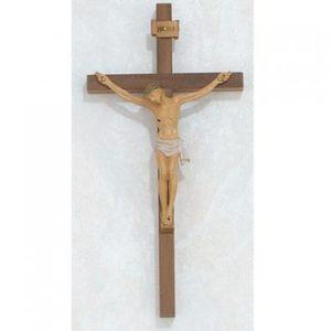 10″ Walnut Crucifix with Italian Corpus