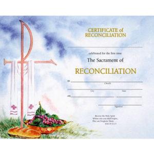 Watercolor Line Reconciliation Certificates