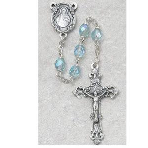 6 MM AB Aqua/March Rosary