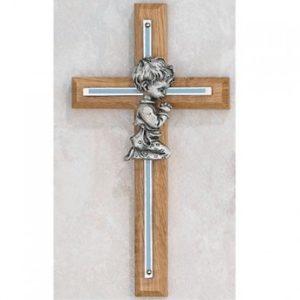 7″ Oak Cross with Boy