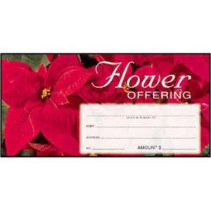 Christmas Flower Offering Envelopes