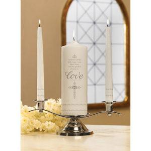 Faith, Hope and Love Candle