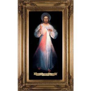 DIVINE MERCY VILNIUS ORIGINAL CANVAS – GOLD MUSEUM FRAMED ART