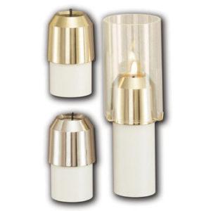 Draft Resistant Candle Follower (Burner); High Polish & Satin Finish