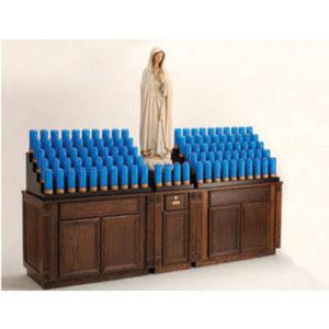 Oak Cabinet Votive Stand