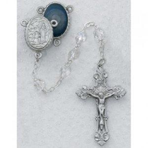 6 MM Crystal Lourdes Rosary