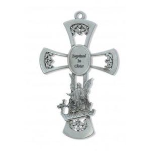 6″ Pewter Baptism Cross
