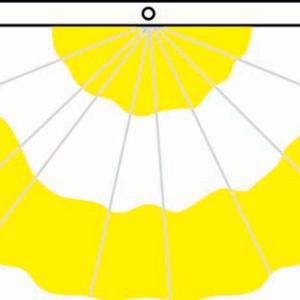 Nylon Pleated 3-Stripe Fan