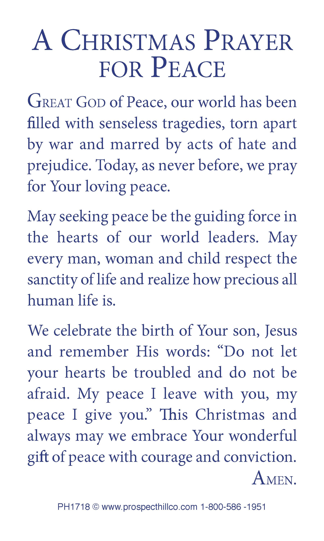 Christmas Prayer.Peace On Earth Christmas Prayer